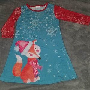 Christmas Fox Swing Dress
